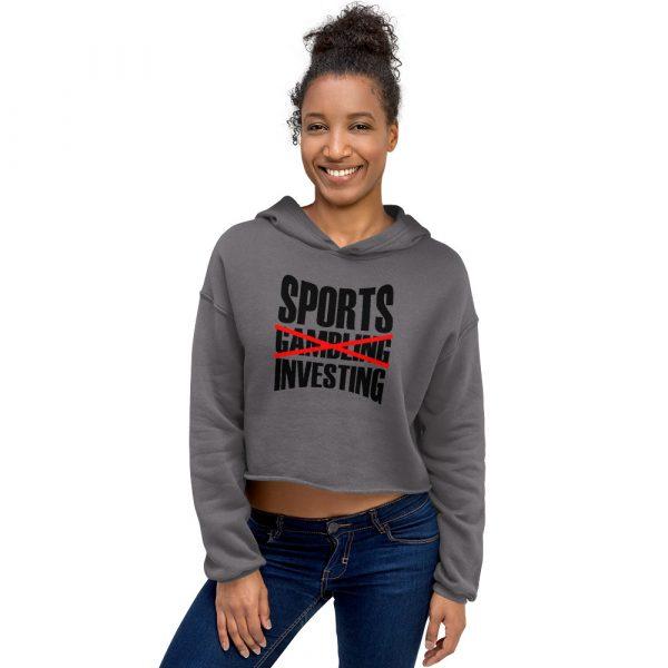 Sports Investing Crop Hoodie